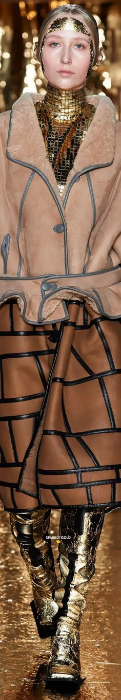 Preen by Thornton Bregazzi Fall 2020 RTW Thornton Bregazzi, Just Be Happy, Fashion Brands, Taupe, Caramel, Runway, Chokers, Copper, Bronze