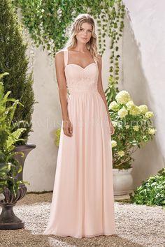 JASMINE BRIDAL. Sweetheart poly chiffon dress with a lace ... 62172fb5e776