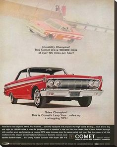Stretched Canvas Print: 1964 Mercury - Comet Leap Year : 29x23in