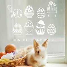 Één ei is niet zoals de andere. Grappige #raamtekening om met Pasen op de ramen te tekenen!