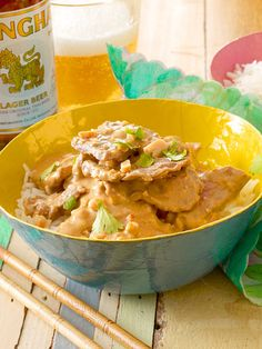 Kang-Mas-Sa-man-Nua (Rotes Rindfleisch-Curry mit Erdnussen)
