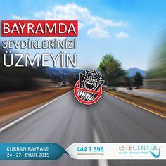 Bayramda Sevdiklerinizi Üzmeyin! TÜİK verilerine göre sadece 2014 yılında #Türkiye'de gerçekleşen 168 bin 512 trafik kazasında 3 bin 524 kişinin hayatını kaybettiğini 285 binden fazla kişininde yaralandığını biliyor musunuz? Geçtiğimiz Ramazan Bayramında yaşanan #trafik kazaları neticesinde ise 74 kişi hayatını kaybetmiş ve 377 kişi de yaralanmıştı. #bayram #TrafikCanavarı #dikkat www.estecenter.com