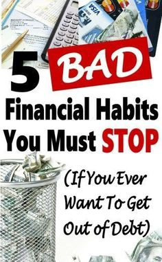 Replacing bad financial habits with good one is not as difficult as it may seem. It a must if you want to save money and live a financially independent life. It'll allow you to start saving money, budgeting, and get out of debt. Ways To Save Money, Money Tips, Money Saving Tips, Mo Money, Managing Money, Money Hacks, Savings Planner, Budget Planner, Term Life
