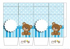 Imprimibles Gratis Baby Shower, Tedy Bear, Panda, Birthday Parties, Baby Boy, Miniatures, Kids Rugs, Creative, Prints
