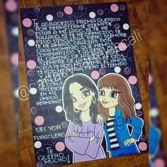 @cartasycartelescali 1 pliego cartulina negra Wsp:3205797879 Bff Drawings, Best Friends Forever, Bffs, Ideas Para, Diy And Crafts, Banner, Happy Birthday, Lettering, Creative