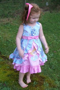 Cinderella Inspired Girls Appliqued Ruffle by SugarbabyCoutureShop, $120.00