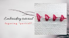 Embroidery Stitches Tutorial, Herringbone Stitch, Smocking, Hair Accessories, Youtube, Traditional, Bed Throws, Hair Accessory, Herringbone