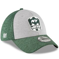 Men s New York Jets New Era Heather Gray Green 2018 NFL Sideline Road  Official 39THIRTY 9a4d6f1d1