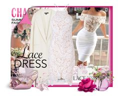 """""""Lace Dress!"""" by schneerose ❤ liked on Polyvore featuring Topshop, DKNY, Glamorous, Sondra Roberts, LSA International and SJP"""