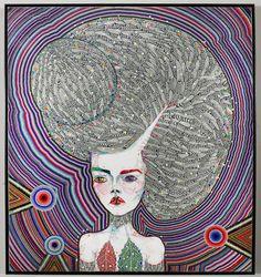 Del Kathryn Barton (born is an Australian artist, who won the 2008 and 2013 Archibald Prizes regarded as the most important portraiture prize in Australia. The Sydney based artist has a bachelor. Del Kathryn Barton, Australian Artists, Contemporary Paintings, Pattern Art, Art Studios, Love Art, Female Art, Illustration Art, Illustrations