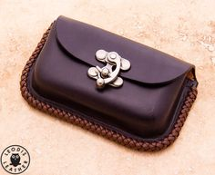 Small Leather Possibles Pouch (Black) with Tek-Lok and Altoids Tin