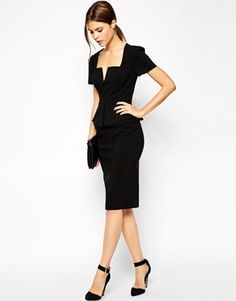 Enlarge ASOS Sexy Pencil Dress with Fold Origami Pleat