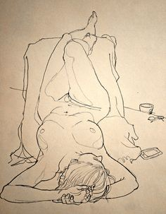 Thursday morning life drawing (by Newsillustrator - Rich Johnson)