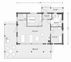 Small House Plans, Small Living, Tiny House, Villa, Floor Plans, Exterior, Flooring, How To Plan, Architecture