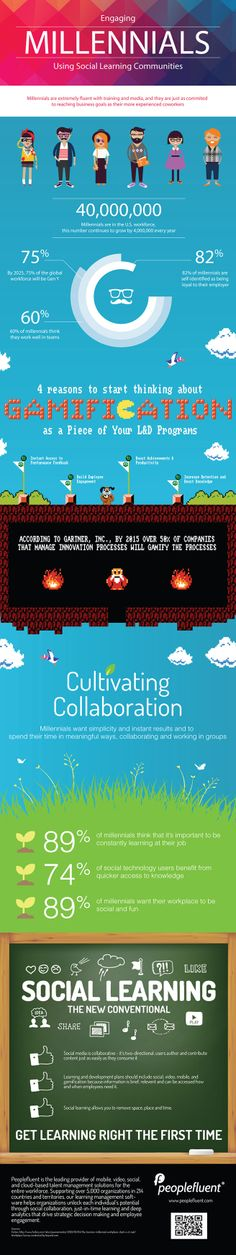 Engaging Millennials Using Social Learning Communities [Infographic] #gamification #collaboration #sociallearning