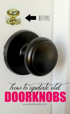 Spray painting old doorknobs!