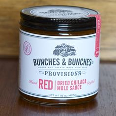 MADE LOCALLY IN PORTLAND, OREGON Red: Dried Chilaca Mole Sauce from Bunches…