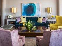 This Blue is with gold is trendy! Must avoid. 10 Design Resolutions to Tackle This Year | Decorating and Design Blog | HGTV