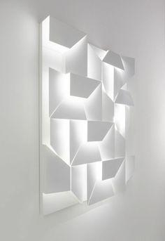 design contemporain dalles led, decoration avec luminaire led