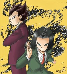 Android 17 and Vegeta