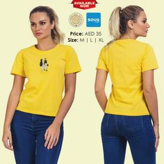 artistic half sleeve T shirt For Women- Shop Now in UAE.tops and tees are availabe at brandsea women online store. Online Shopping Uae, Half Sleeves, Dubai, Shop Now, Retail, T Shirts For Women, Shorts, Tees, Link