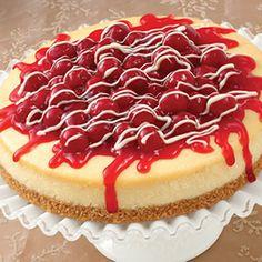 White Chocolate Cherry Cheesecake  #chocolate #cheesecake #cherry