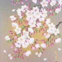 森田りえ子先生「桜月夜」42×33