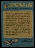 1976 Topps Star Trek #85  The Trouble with Tribbles  Back Thumbnail