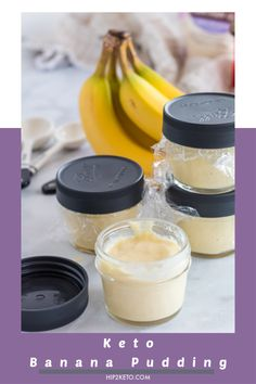 The Best Keto Banana Pudding Recipe Ketogenic Desserts, Keto Friendly Desserts, Keto Snacks, Keto Foods, Diabetic Friendly, Ketogenic Diet, Low Carb Sweets, Low Carb Desserts, Low Carb Recipes