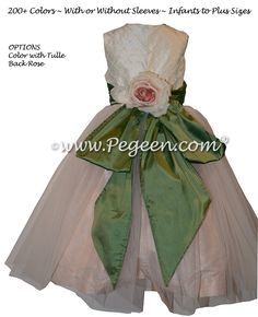 414 best green flower girl dresses images on pinterest dresses for pink and sage green pintuck and pearled custom silk flower girl dresses mightylinksfo
