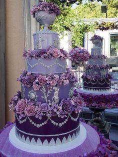 beautiful purple flowers wedding cakes - Purple Wedding Cakes
