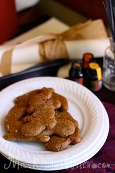 Professor McGonagall's Ginger Newt Biscuits - Vegan Harry Potter Recipes via http://MissKitchenWitch.com