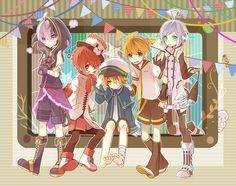 Tags: Vocaloid, V4 Flower, Fukase, Oliver, Kagamine Len, Utatane Piko