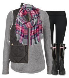 """""""so do w/school"""" by kate-elizabethh ❤ liked on Polyvore featuring NIKE, maurices, J.Crew, Betsey Johnson, Hunter, women's clothing, women, female, woman and misses"""