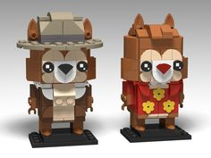 Chip & Dale, Rescue Rangers BrickHeadz | by headzsets