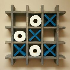 Bathroom Tic Tac Toe - Toilet paper holder - Toilet paper Tic Tac Toe - Pallet W. - Bathroom Tic Tac Toe – Toilet paper holder – Toilet paper Tic Tac Toe – Pallet Wall art – F -