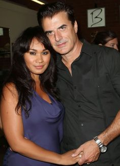 Chris Noth and his wife Tara Wilson. Married April 6, 2012.
