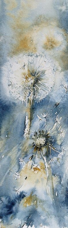 New Painting Watercolor Beautiful Artists Ideas Art Aquarelle, Watercolour Painting, Watercolor Flowers, Painting & Drawing, Flower Watercolor, Watercolours, Painting Inspiration, Flower Art, Cool Art