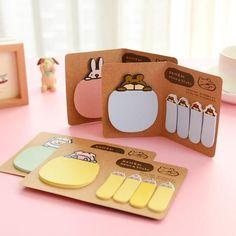 5 Piece, Cute Animal Korean Rabbit Sheep Kawaii Stationery Post It Diary Memo Pad Scrapbooking Sticky Notes Book Paper Sticker Bookmark