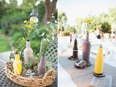 love –love the bottles, the flowers, the yellow and grey and naturals, the earthy touches