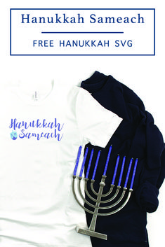 Create custom Hanukkah Shirts, bags, and home decor with this FREE SVG file from Everyday Party Magazine #Hanukkah #FreeSVGForCricutAndSilhouette #HanukkahShirt