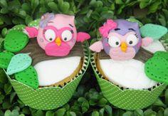 Cupcake com corujas