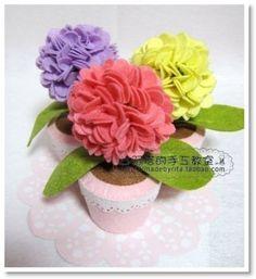 DIY Felt Hydrangea Flower