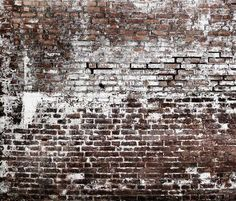 Would you believe this is exposed brick wallpaper? it looks just like a brick wall in a loft! Love this look