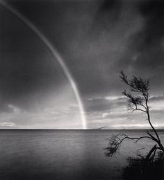 Late Afternoon Rainbow, Dunalley, Tasmania, Australia. 2013 by Michael Kenna