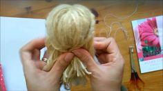 Crochet doll hair how to make yarn wig 62 super ideas Wool Dolls, Yarn Dolls, Knitted Dolls, Fabric Dolls, Crochet Dolls, Doll Wigs, Doll Hair, Yarn Wig, Crochet Eyes