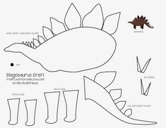 Page 1 of 1 Dinosaur Activities, Dinosaur Art, Craft Activities, Preschool Crafts, Animal Crafts For Kids, Diy For Kids, Dinosaur Birthday Party, Birthday Party Themes, Dinasour Crafts