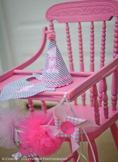 "Photo 1 of 30: Pinwheels and PomPoms / Birthday ""Pinwheels and PomPoms First Birthday Bash"" | Catch My Party"