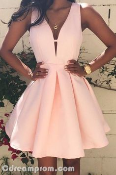 pink dress homecoming dress