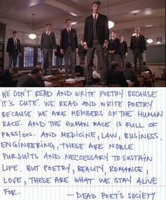 dead poets society o captain my captain essay An influential and empowering high school teacher, in 1989's dead poets society stood out among the rest the scene in which his students recite o captain my.